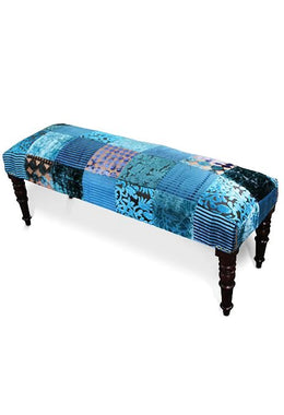Turquoise Patchwork Bench