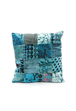 Turquoise Patchwork Cushion