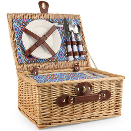 Two-Person Picnic Basket & Cooler Set
