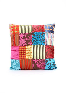 Velvet Multi Patch Cushion