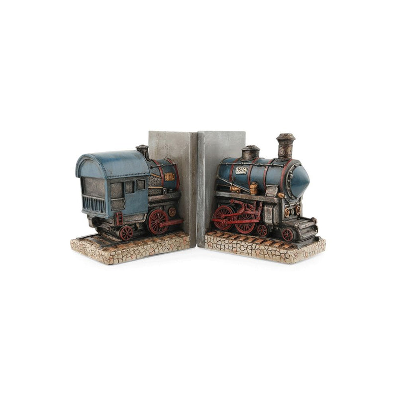 Vintage Train Bookends