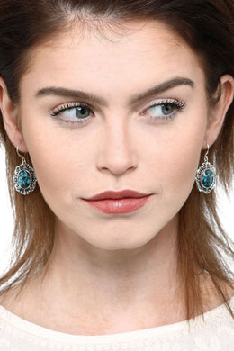 Vintage Turquoise Hook Earrings