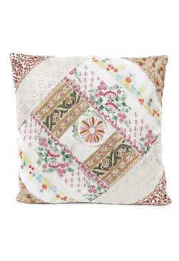 White Sari Cushion