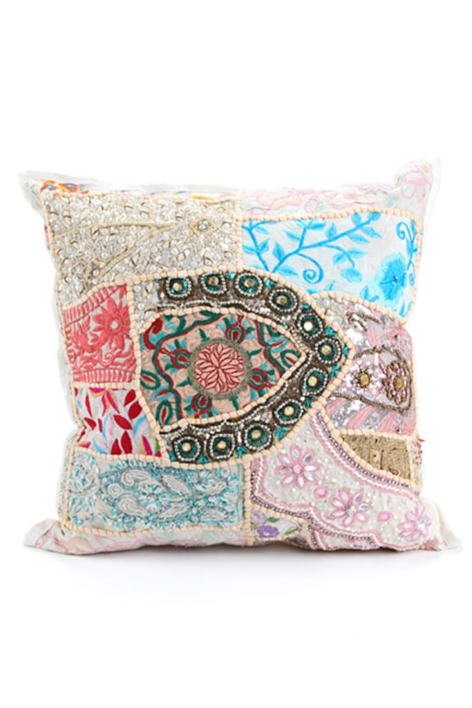 White Suti Cushion