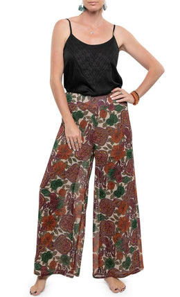 Wide Leg Gauzy Pants