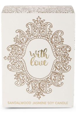 With Love Soy Quote Candle