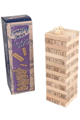 Wooden Tumbling Tower Game