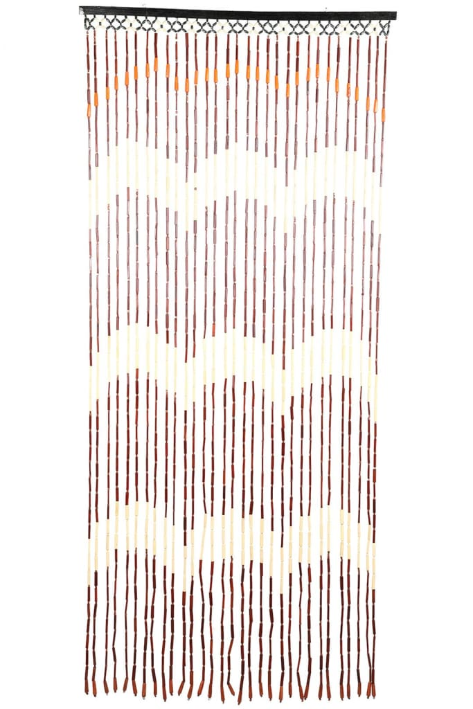 Wooden Wave Bead Curtain