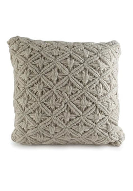 Woolen Macrame Cushion