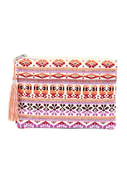 Woven Colourful Clutch