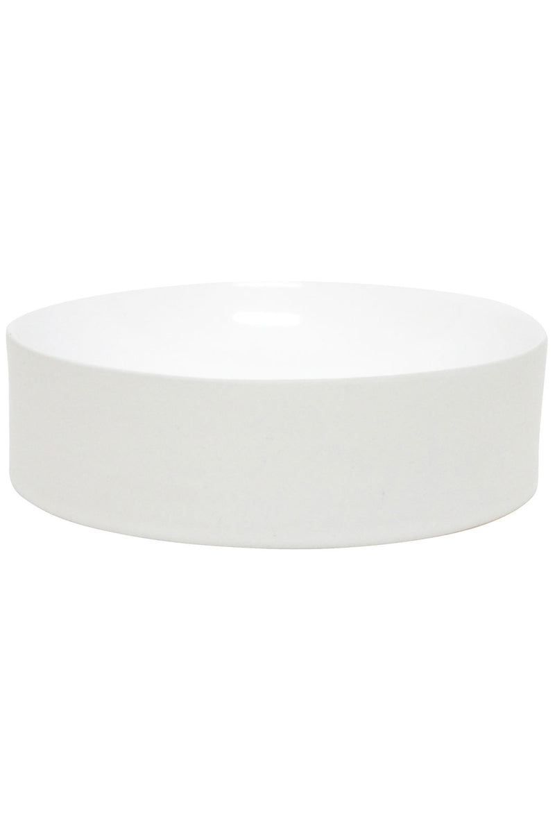 White Ceramic Concave Bowl