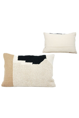 Black White & Natural Prisha Cushion