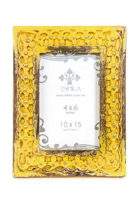 Yellow Studded Picture Frame