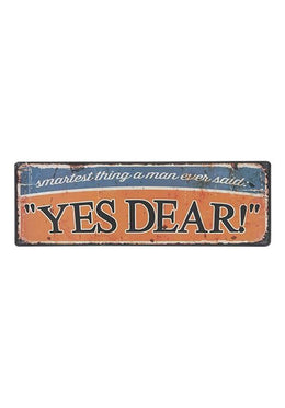 Yes Dear Wall Hanging