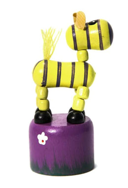 Zebra Push-Up Toy