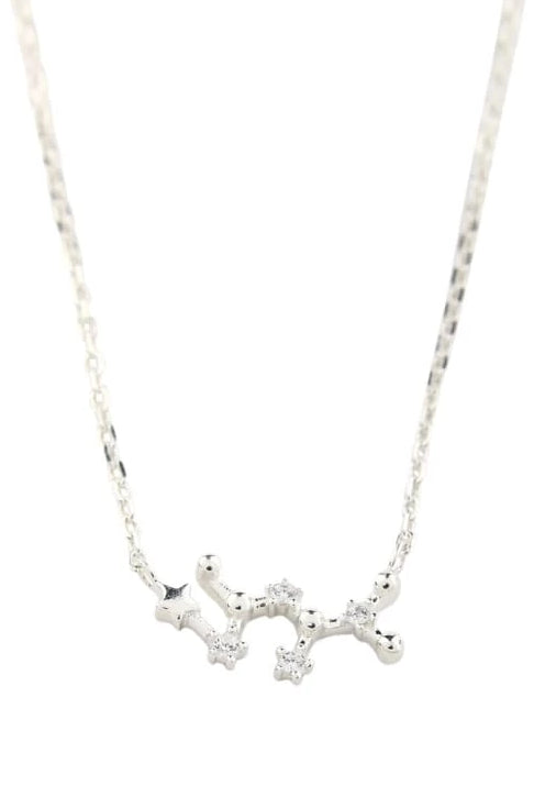 Zodiac Constellation Silver Necklace