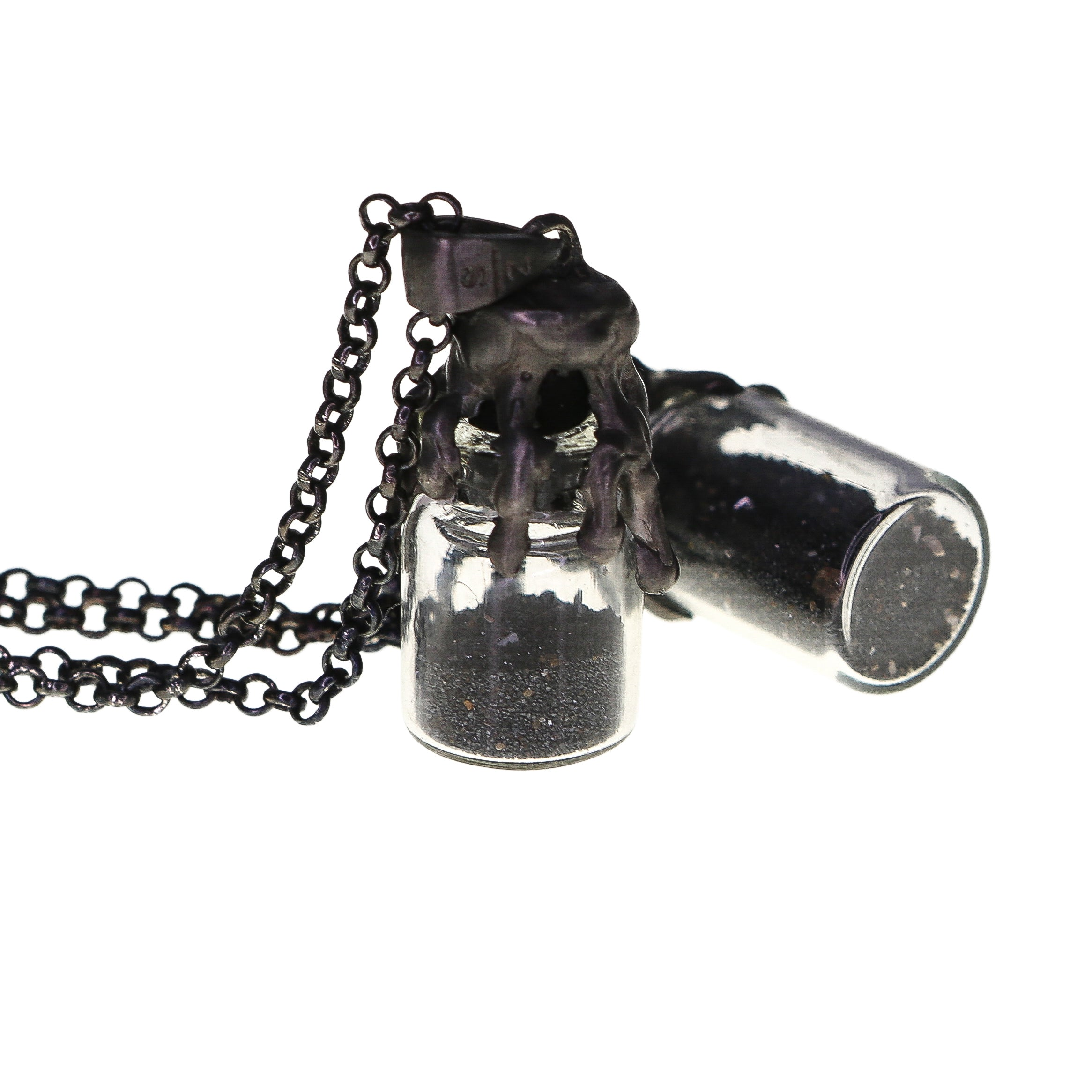 Black Sand in Bottle necklace