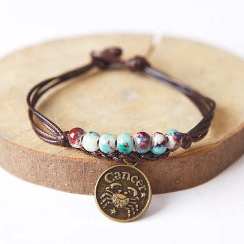 Ceramic Beaded Zodiac Bracelets