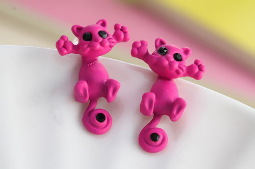 Colorful Cat Stud Earrings