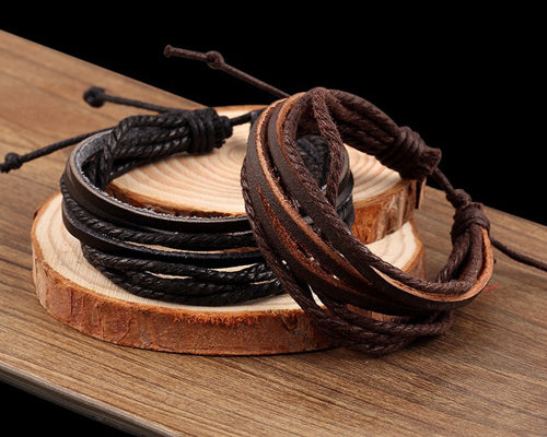Handmade Leather Rope Bracelet