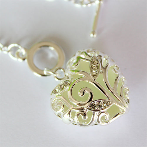 Luminous heart pendant bracelet pretty fly buy luminous heart pendant bracelet aloadofball Gallery