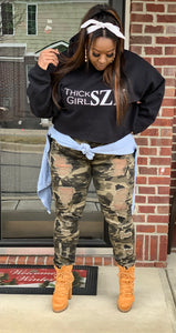 Thick Girl SZN Cropped Hoodie