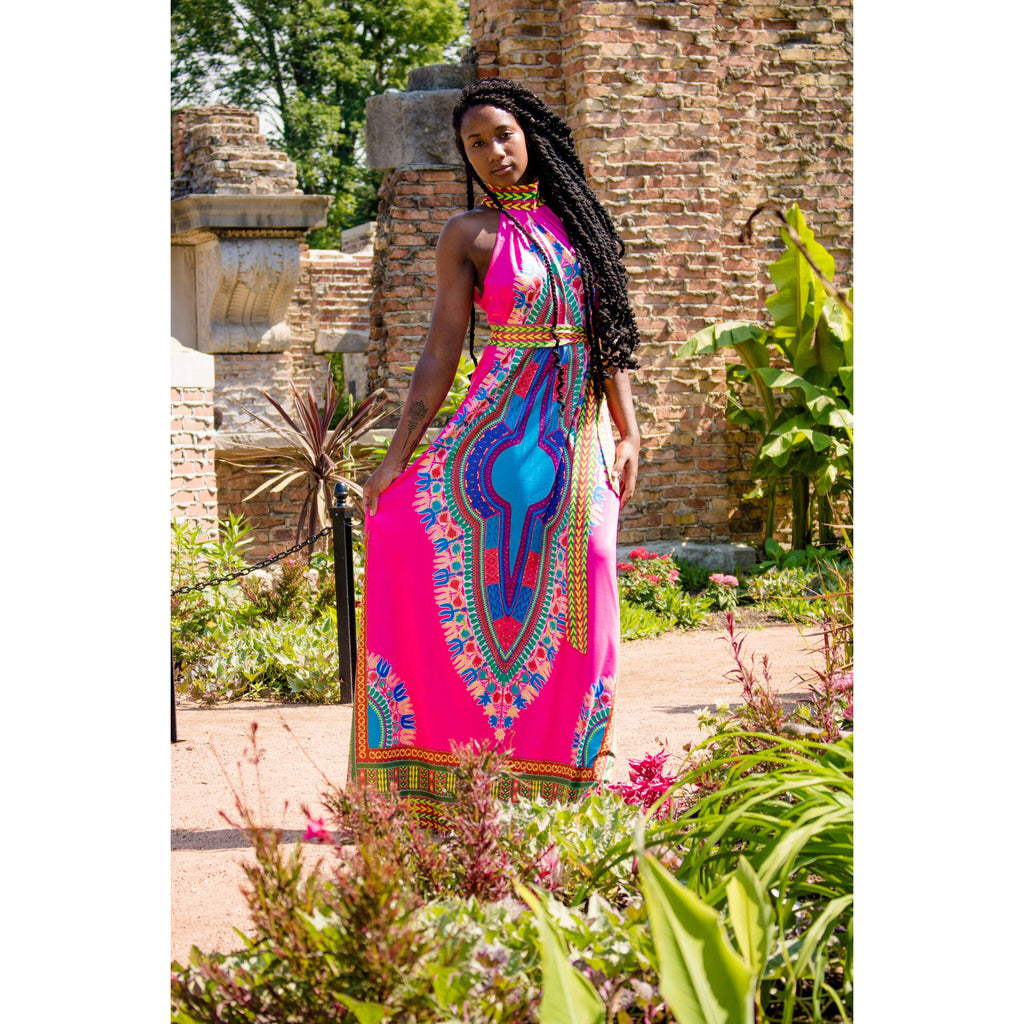 Native Tropical Queen Maxi Dress