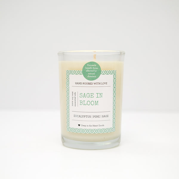 Soy Wax Candle, Candle, Soy, organic, essential oils, bath, body, texas, sage, sage in bloom