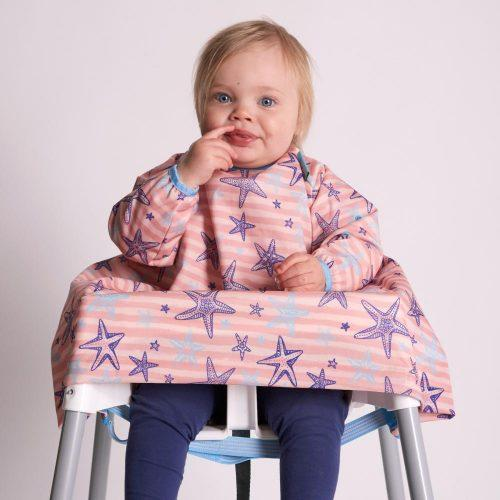 BiBaDo - Highchair Coverall Bib with sleeves