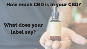 How much CBD is in your CBD?