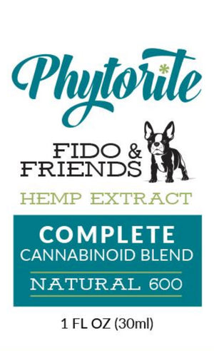 Fido and Friends 600 - Full Spectrum Hemp Oil for Pets - Monthly Membership - Phytorite