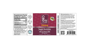CBD Living Vegan gummies 750 label - PhytoRite