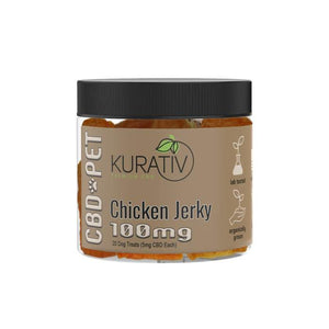 Kurativ Chicken Jerky pet CBD treats - PhytoRite.com