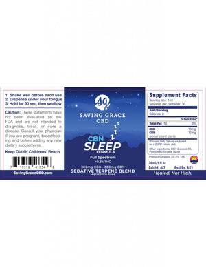 Saving Grace CBN Sleep Label - Phytorite