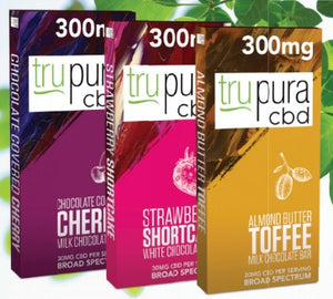 trupura Chocolate Bars - 300mg CBD - PhytoRite.com