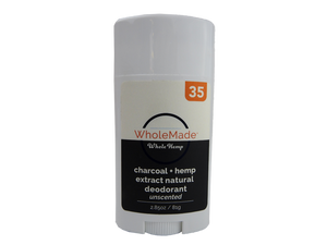 WholeMade Unscented Charcoal Deodorant - PhytoRite