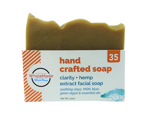WholeMade Clarity Facial Hemp Soap - PhytoRite.com