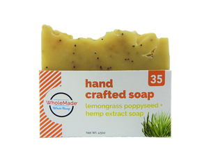 WholeMade Lemongrass Poppyseed Hemp Soap bar - PhytoRite.com