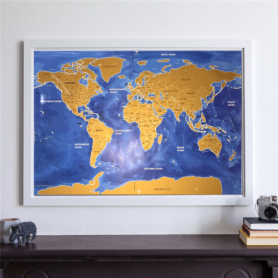 Drop shipping deluxe home travel scratch map vintage gold black drop shipping deluxe home travel scratch map vintage gold black poster personalized world map living room gumiabroncs Gallery