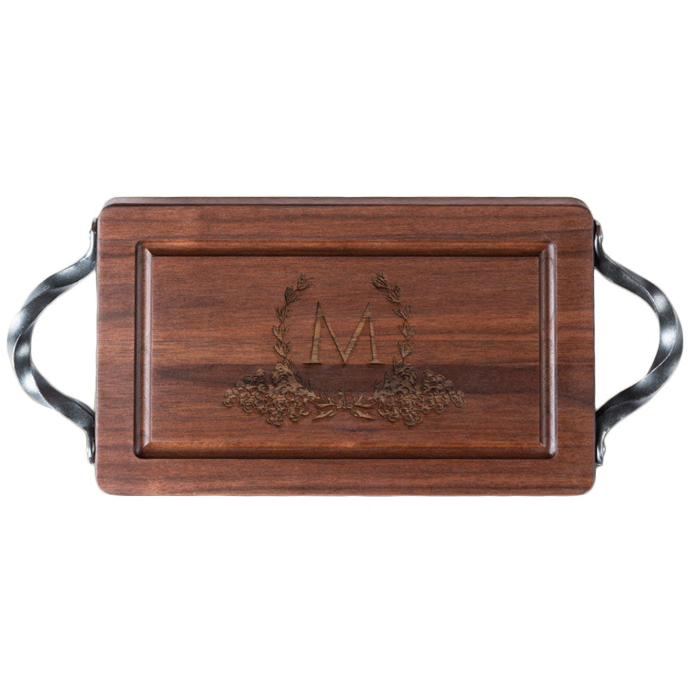 "Walnut Board with Handle - 13"" Rectangle"