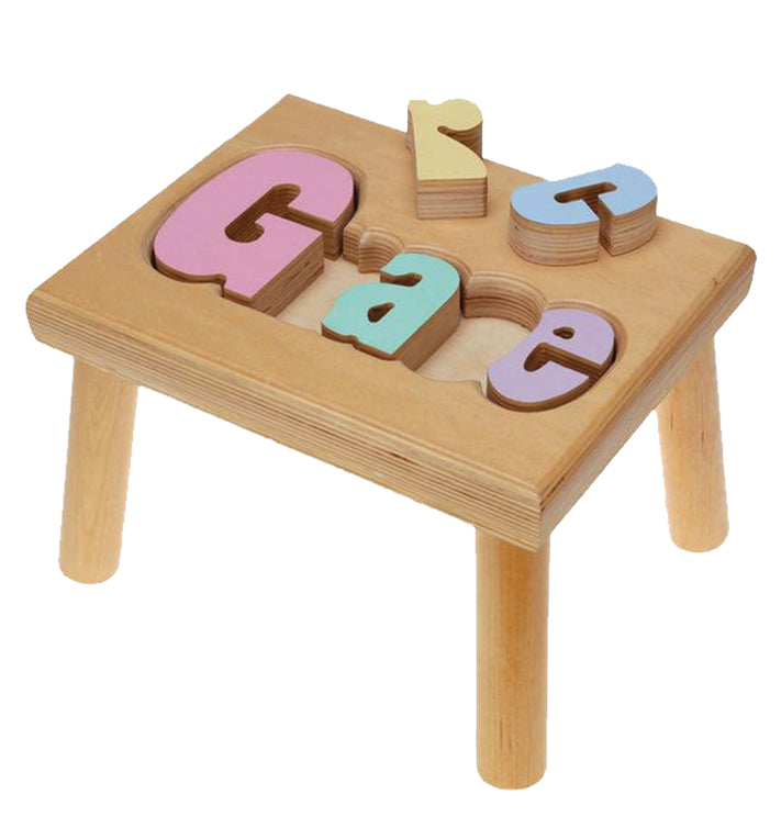 Name Stool Puzzle - Small