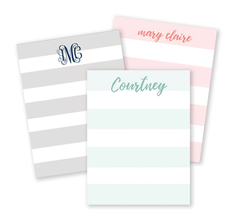 Broad Stripes Notepad
