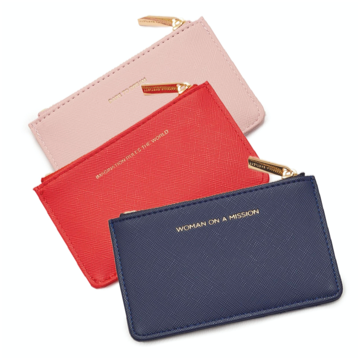 Estella Bartlett Zippered Receipt and Card Holder