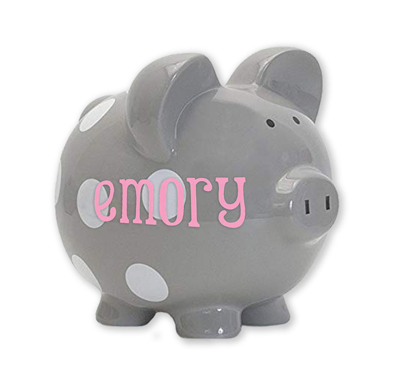 Classic Dots Piggy Bank