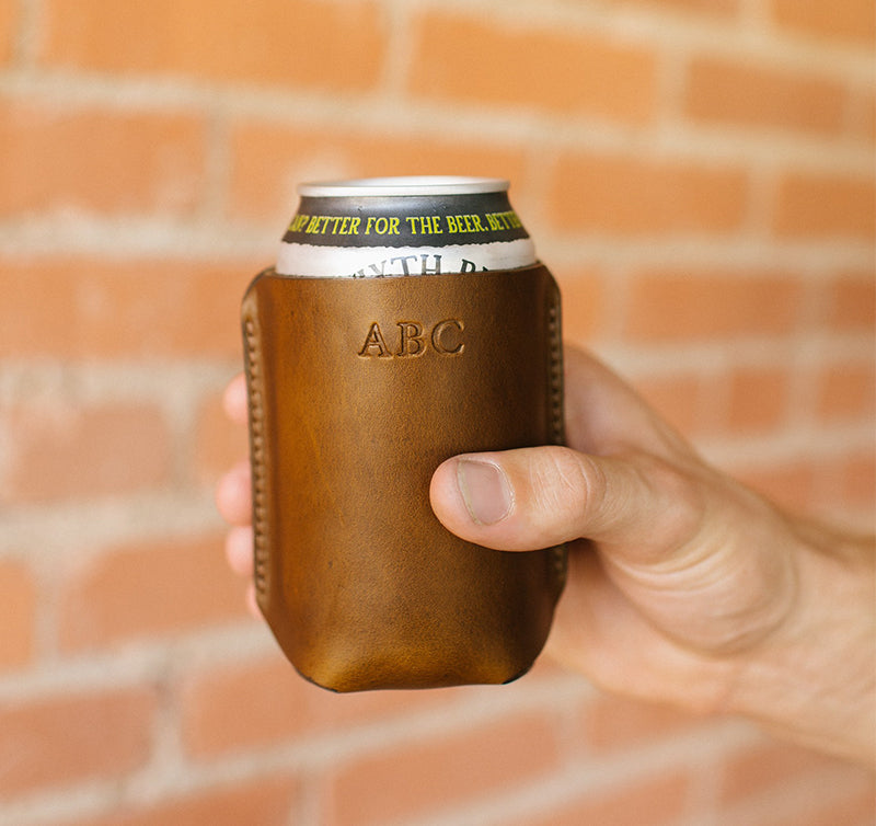 Personalized Leather Koozie
