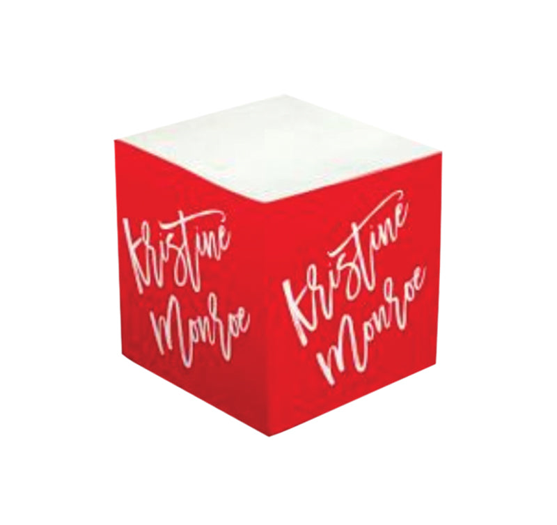 Personalized Sticky Note Cube