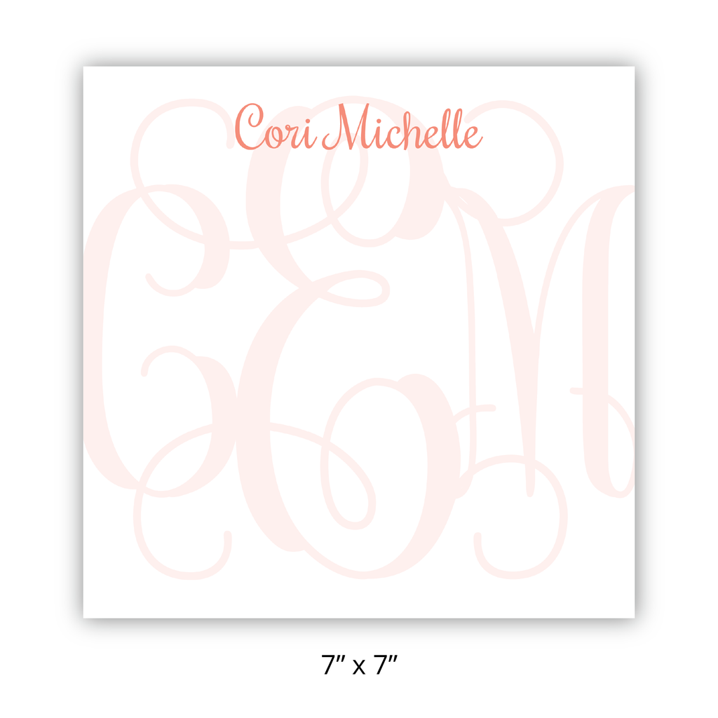 Personalized Monogram Chunky Pad