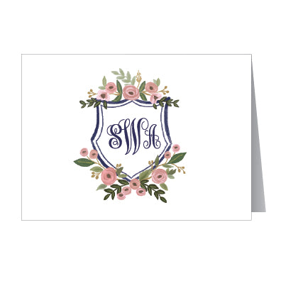 Personalized Botanical Note Cards - Set of 10