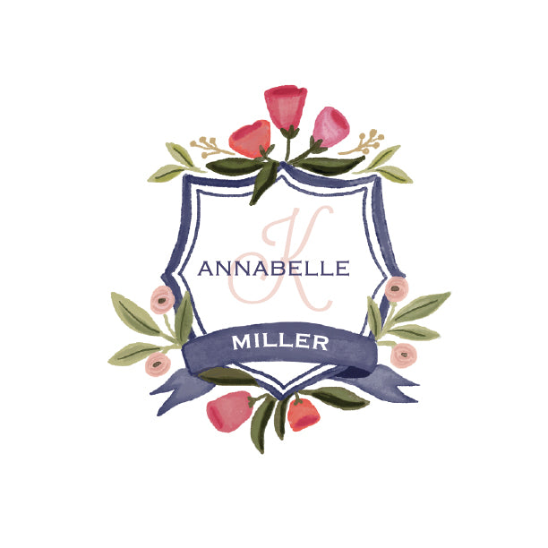 "Personalized Botanical ""Annabelle"" - Chunky Pad"