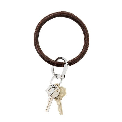 Big O Key Ring - Chocolate Croc